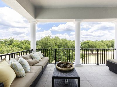 Photo for Reunion Luxury! Private Heated Pool/Spa; Separate Guest Suite; on Golf Course, 6 mi from Disney!