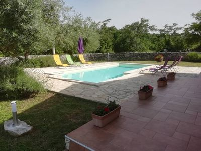 Photo for Holiday house with private pool in a peaceful area, village Rakalj