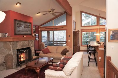 Seating for everyone! 3 couches and a recliner in this comfortable living room!
