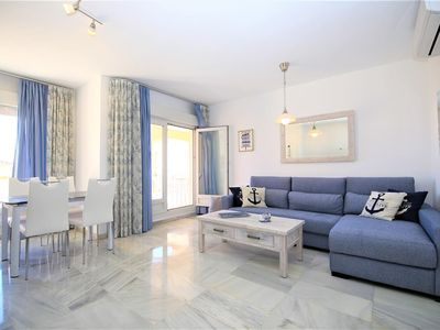 Photo for Excellent stylish apartment with sea views, Belgravia Club next to Estepona port by the beach