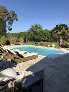 Photo for Splendid villa in the heart of the vineyards, private pool.