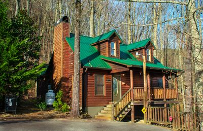 Photo for Beary Sweet Retreat - Cozy 2 Bed/2Bath Cabin w/Private Hot Tub! Backs to GSMNP!