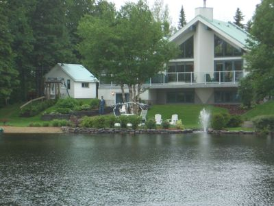 Photo for Luxurious Lakefront Chalet Near Mont Ste-Anne & Le Massif Resorts