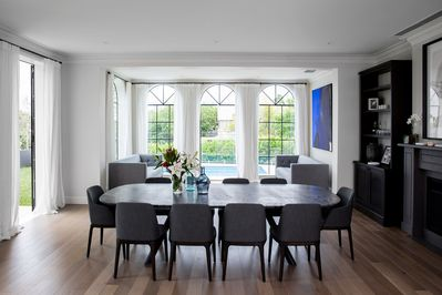 Large formal 10 seater dining table