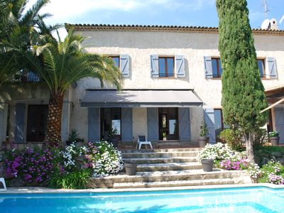 Photo for Provencal house with pool in Grasse for 4 to 15 people