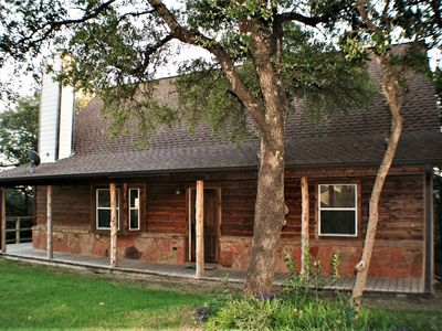 Photo for Cozy Cabin with Fireplace & Views of Lake Travis