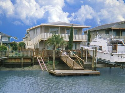 Photo for Holden Beach, Channel home.  Very short walk to beach!$135 nt Easter wk 4 nt min