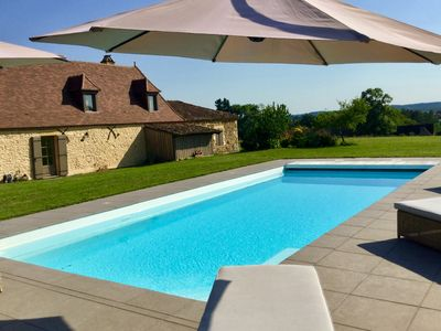 Photo for Charming guest house with heated pool