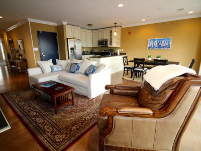 Photo for Beautiful 1 Bedroom Apartment with Private Waterfront Roof Deck