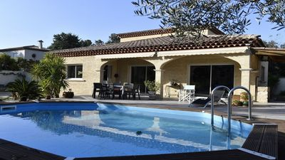 Photo for Beautiful south facing villa with pool and landscaped garden