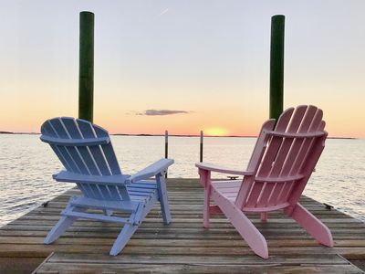 Photo for BEAUTIFUL TROPICAL HOME & DOCK on Sea of Abaco-Walk to Village & Beach