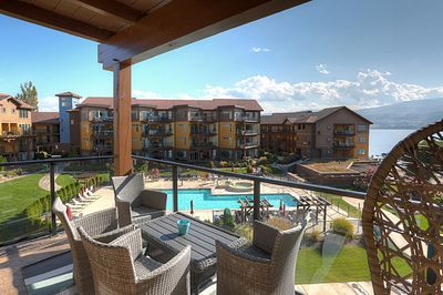 patio view to pool and spa area