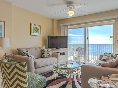 Photo for Gulf-Front Condo with Fully Equipped Kitchen, Private Balcony, 2 pools & Private Beach Boardwalk!