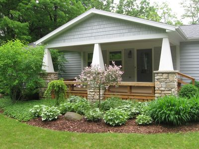 Photo for 3 bed 2 bath. Walk into Sister Bay. Aug 12-15 available.