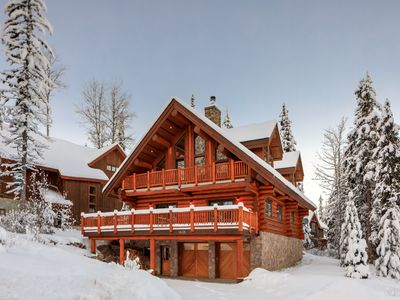 Photo for True Ski-in/Ski-Out Luxury Timberframe Chalet at KHMR - 4 BR,3 Ba, Hot Tub