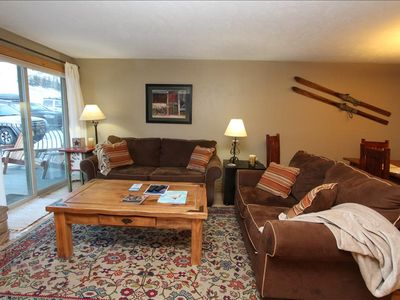Photo for Beautiful 2 BR Condo, Pool, Hot tub, Sauna! Completely renovated! On shuttle route. $125/nt 3/31-5/3