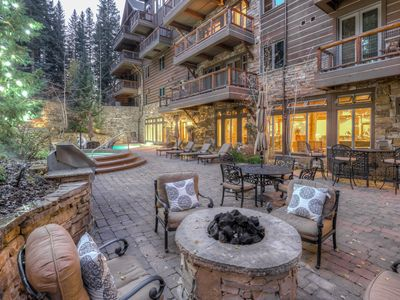 Photo for Ski-in/Ski-out Condo, Slope side hot tubs, Kids Ski Free & Worry-Free Booking