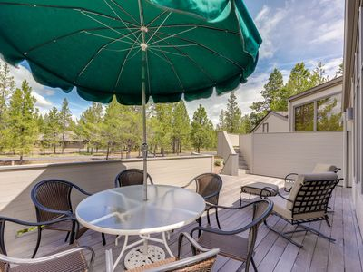 Photo for NEW LISTING! Dog-friendly Sunriver home w/wood stove, large deck & SHARC access!