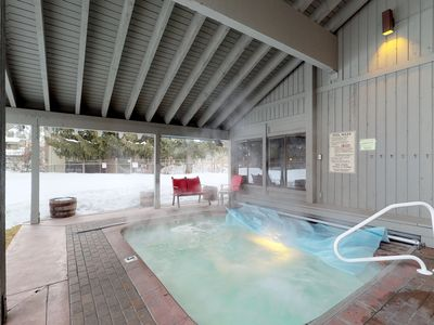 Photo for Comfy condo near skiing & town w/ access to a shared pool, hot tub, & rec room
