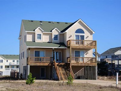 Photo for 400 feet to the beach!: Rec room with pool table, private pool and hot tub.
