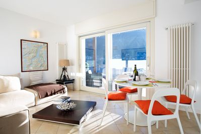 Stylish Law View Garden Apartment, Laglio offers contemporary lake view living.