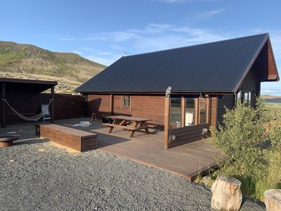 Photo for Lovely secret cabin close to the Golden Circle with vast view and a nice hot tub