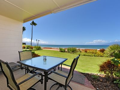 Photo for Makani Sands #104 1brm Beachfront condo in West Maui
