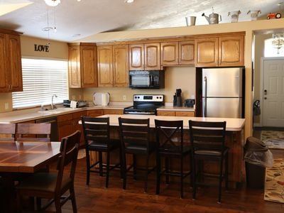 Photo for HUGE home near Zion! Two Kitchens! 5 bedrooms.