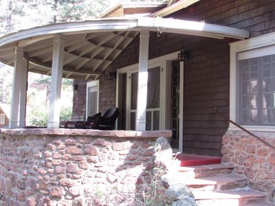 Porch and Front Steps overlooking creek
