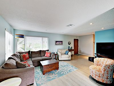 Photo for Charming Beachside Bungalow w/ Light & Airy Décor -- 300 Yards to Beach