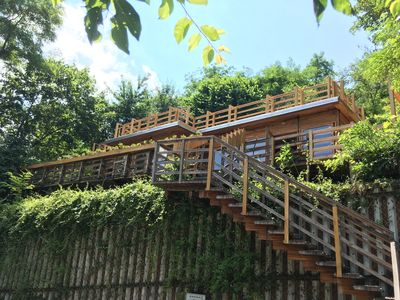 Photo for The only in-town lodge in Transylvania, featuring a sundeck, hot tub and sauna