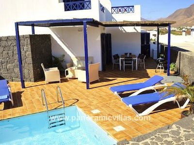 Photo for 3 bedroom Villa, sleeps 6 in Playa Blanca with Pool, Air Con and WiFi