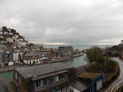 View from patio looking towards Looe bay