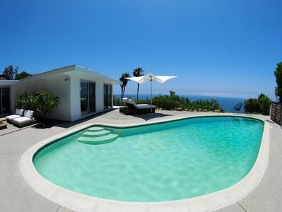 Photo for Artistic Modern Mid Century with Panoramic Ocean Views and Pool