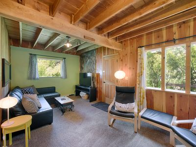 Photo for AWESOME! NEW LISTING! Charming Cabin w Hot Tub - Euro Feel, Nr Lake