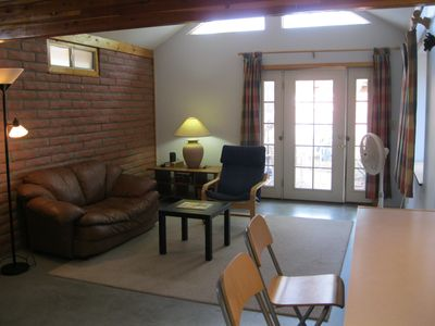 living room - the door shown is the front entry