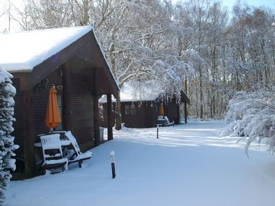 Photo for Heated Indoor Swimming Pool, beautiful 2 bed lodge set in woodland.
