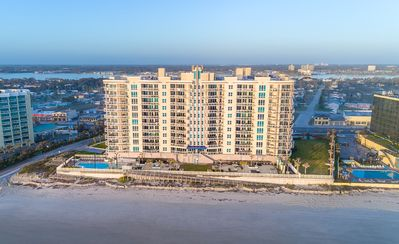Ocean Front Arial Of the Building