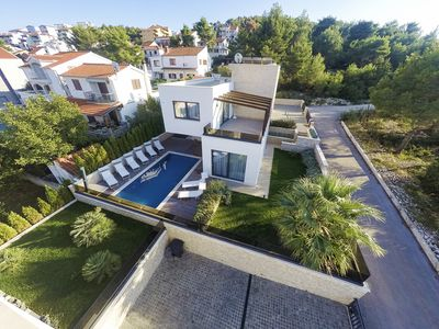Photo for Modern Villa Sunce, in Dalmatia, with a Pool