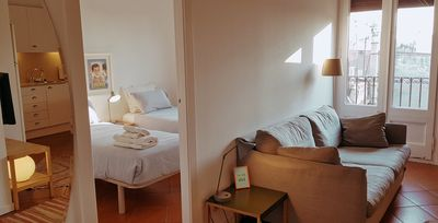 Photo for Rambla B- free wifi, ideal for expads and people moving in- Very bright!