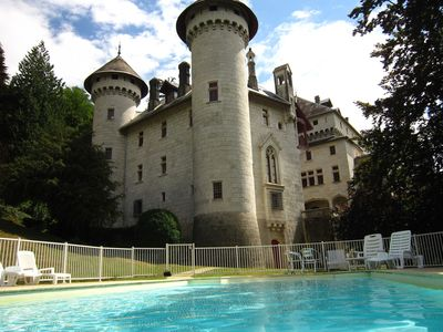 Photo for Castle apartment with swimming pool and beautiful view of the Grand Colombier