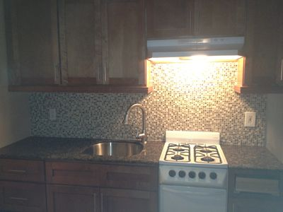 Remodeled Kitchen with new cabinets and granite countertops!