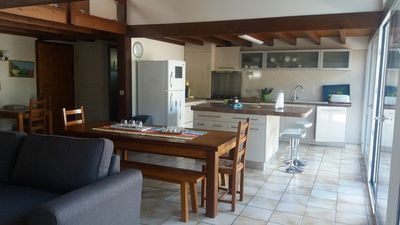 Photo for Pleasant semi-detached house of type 4 with floor close to Lake Lacanau