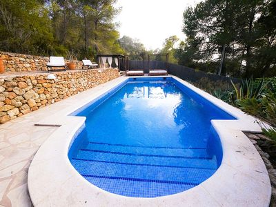 Photo for Villa with private pool, sea and sunset views