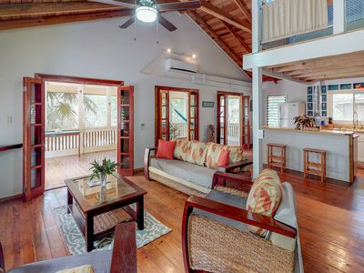 Photo for Inviting cabana with enclosed porch near beach & dining