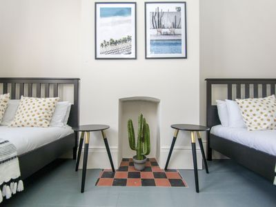 Photo for Brighton Lanes Townhouse: 4 bedroom, sleeps 22, close to beach, terrace, WiFi