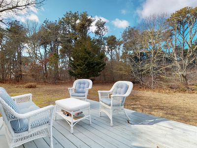 Photo for Cozy and private cottage on Chappaquiddick Island - perfect for families!