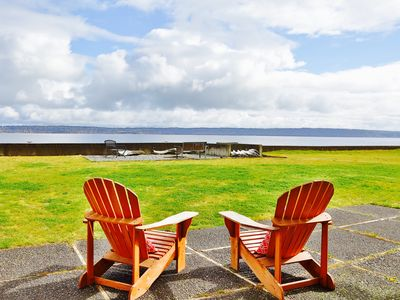 Photo for Beachfront Cabin on private, secluded Bells Beach 5 minutes from Langley Village
