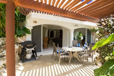 Private Terrace with outdoor dining and BBQ