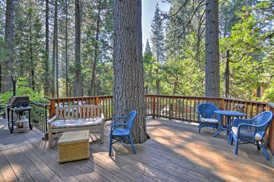 You'll love the home's natural surroundings and large deck.